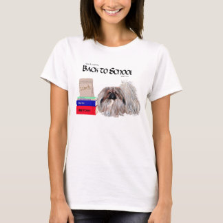 Pekingese Hund zurück zu Schule T-Shirt