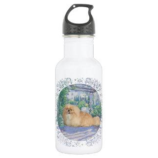 Pekingese im Lavendel Trinkflasche