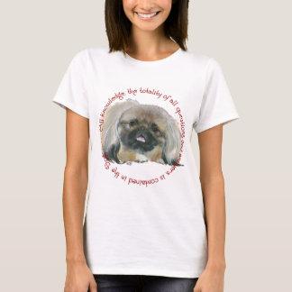 Pekingese Klugheit - alles Wissen im Hund T-Shirt