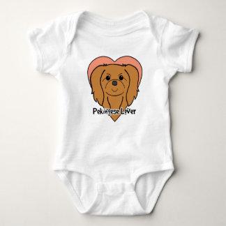 Pekingese Liebhaber Baby Strampler