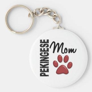 Pekingese Mamma 2 Schlüsselanhänger