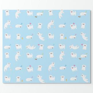 Pekingese Muster-Packpapier Geschenkpapier