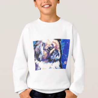 pekingese Pop-Kunst Sweatshirt