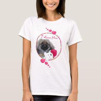 Pekingese Valentinsgruß T-Shirt