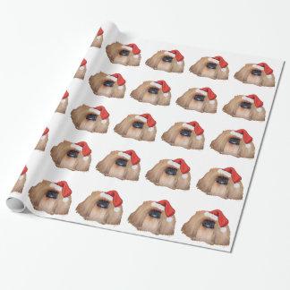 Pekingese Weihnachten Geschenkpapier