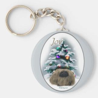 Pekingese Weihnachtsgeschenke Schlüsselanhänger