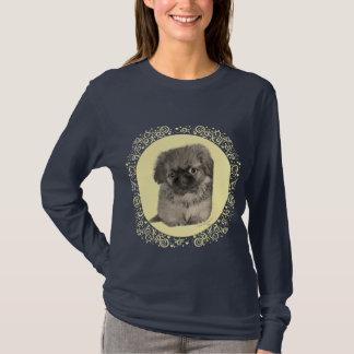 Pekingese Welpen-Gelb T-Shirt