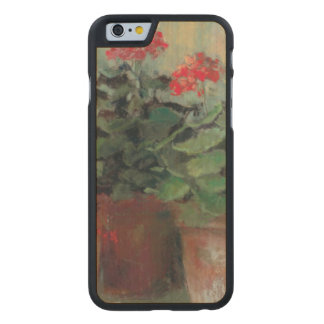 Pelargonien in den Töpfen Carved® iPhone 6 Hülle Ahorn