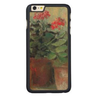 Pelargonien in den Töpfen Carved® Maple iPhone 6 Plus Hülle