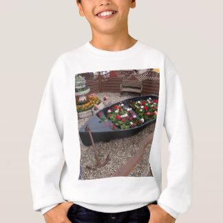 Pelargonien in einem Boot Sweatshirt