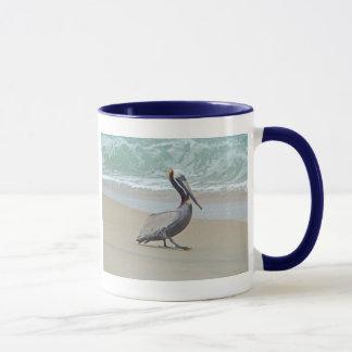Pelikan auf äußeren Banken OBX NC Tasse