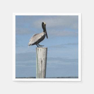 Pelikan auf ein Posten-Servietten Serviette