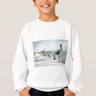 Pelikan auf Pier Sweatshirt