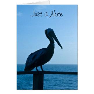 Pelikan-Blau/Anmerkungs-Karte Karte