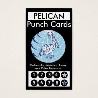 Pelikan-Energie-Lochkarten Visitenkarte