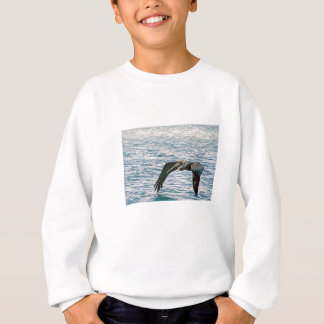 Pelikan fliegt sweatshirt