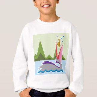 Pelikan isst Fische Sweatshirt