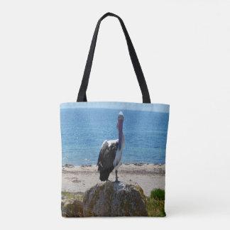 Pelikan mit dem Blick, Tasche