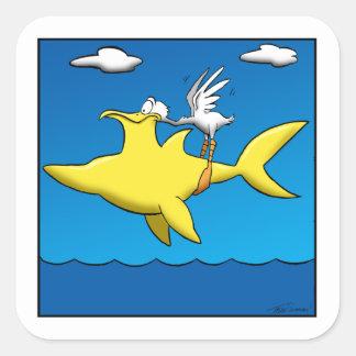 Pelikan-Schmerz Quadratischer Aufkleber