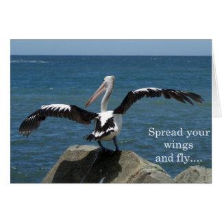 Pelikan - verbreiten Sie Ihre Flügel Karte