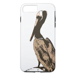 Pelikan-Vogel-Tier-Tierstrand iPhone 7 Fall iPhone 8 Plus/7 Plus Hülle
