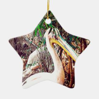 Pelikane Keramik Stern-Ornament