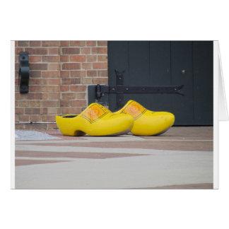 Pella, Iowa, gelbe hölzerne niederländische Schuhe Grußkarte