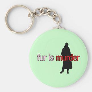 Pelz ist Mord Standard Runder Schlüsselanhänger
