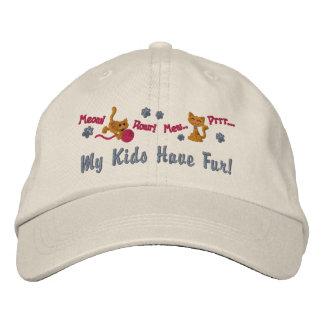 Pelz-Kinder Bestickte Caps