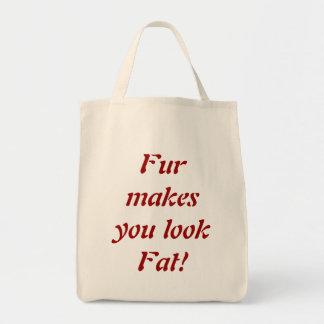 Pelz lässt Sie fette Taschentasche schauen Einkaufstasche