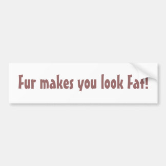 Pelz lässt Sie fetten Autoaufkleber schauen