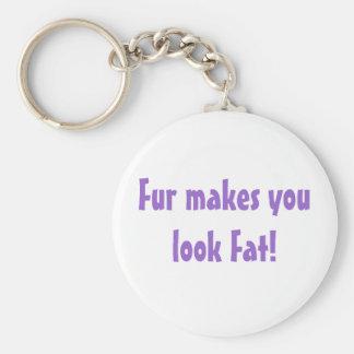 Pelz lässt Sie fettes keychain schauen Standard Runder Schlüsselanhänger