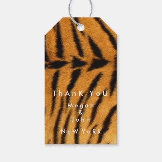 Pelz-Tiger-Name Tierhaut-Browns danken schwarzer Geschenkanhänger