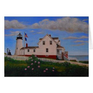 Pemaquid Punkt-Leuchtturm, Maine Karte