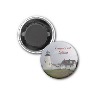 Pemaquid Punkt-Leuchtturm, Maine Runder Magnet 2,5 Cm
