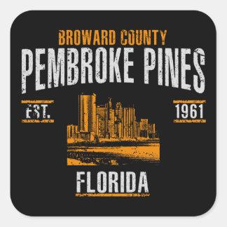 Pembroke-Kiefern Quadratischer Aufkleber
