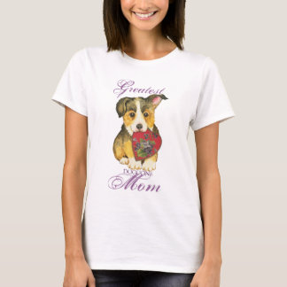 Pembroke-Walisercorgi-Herz-Mamma T-Shirt