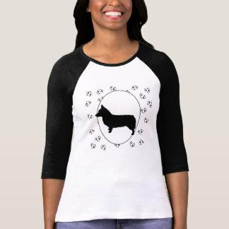 Pembroke-WaliserCorgi Herzen und Pawprints T-Shirt