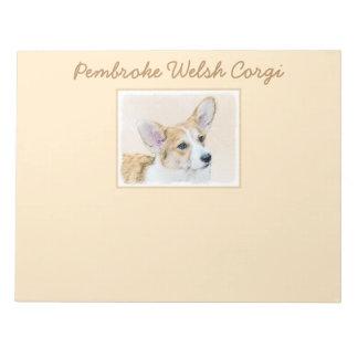 Pembroke-Walisercorgi-Malerei - ursprüngliche Notizblock