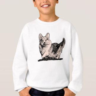 Pembroke-WaliserCorgi mit dem Sweatshirt eines