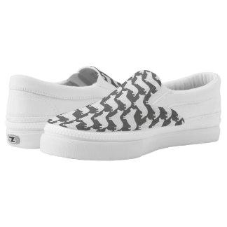 Pembroke-Walisercorgi-Silhouette-Muster Slip-On Sneaker
