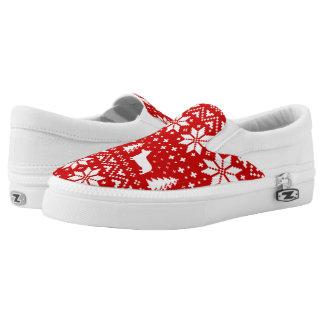 Pembroke-Walisercorgi-Silhouette-Weihnachtsmuster Slip-On Sneaker