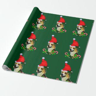 Pembroke-Walisercorgi-Weihnachten Geschenkpapier