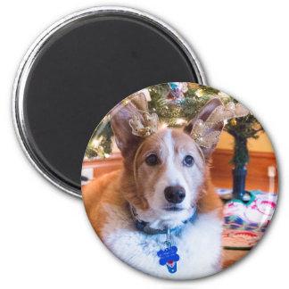 Pembroke-Walisercorgi-Weihnachten Runder Magnet 5,1 Cm