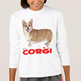 Pembroke-Walisercorgi-Welpen-Hunderote T-Shirt