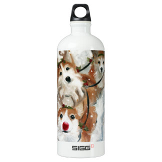 Pembrokewalisercorgi-Weihnachtsren Aluminiumwasserflasche