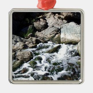 Penasquitos Wasserfall Quadratisches Silberfarbenes Ornament