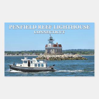 Penfield Riff-Leuchtturm, Connecticut-Aufkleber Rechteckiger Aufkleber