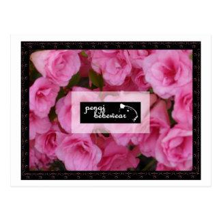 Pengi Bebewear rosa Rosenpostkarten Postkarte