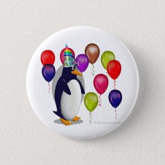 Penguin-Geburtstags-Party Runder Button 5,1 Cm